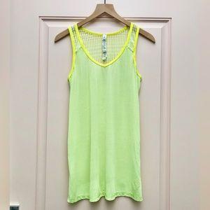 Lululemon Run Neon Yellow Tie & Fly Tank - Size 6